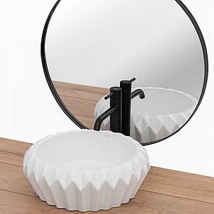 Умывальник (раковина) REA CHIC накладной белый, фото 2