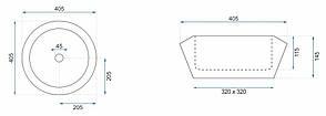 Умывальник (раковина) REA CHIC накладной белый, фото 3