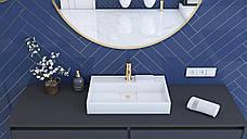 Умивальник (раковина) REA GOYA 50 см накладної білий, фото 3