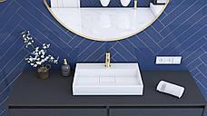 Умивальник (раковина) REA GOYA 50 см накладної білий, фото 2