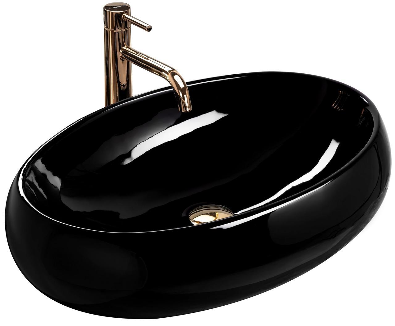 Умывальник (раковина) REA MELANIA BLACK накладной черный