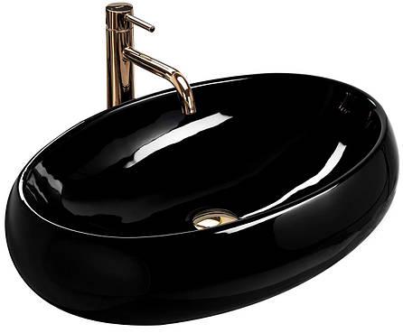 Умывальник (раковина) REA MELANIA BLACK накладной черный, фото 2