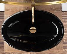 Умывальник (раковина) REA MELANIA BLACK накладной черный, фото 3