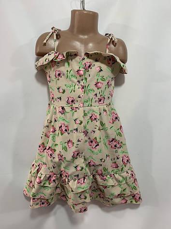 Летний сарафан для девочки в цветок р. 6-10  лет, фото 2
