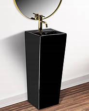Умивальник (раковина) REA KAMILA BLACK підлоговий чорний, фото 2