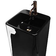 Умывальник (раковина) REA MIA BLACK монолитный черный, фото 2