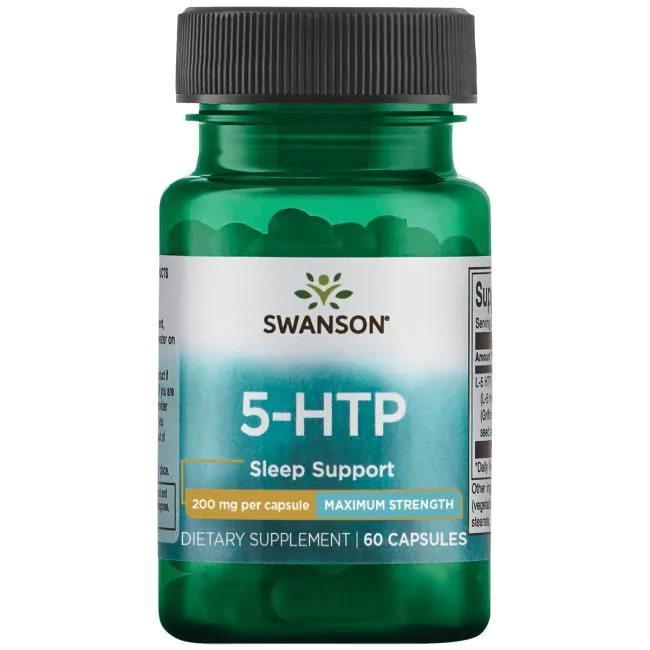 Амінокислота Swanson 5-HTP 200 mg Maximum Strength, 60 капсул