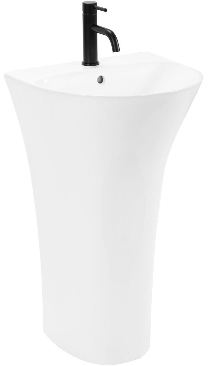 Умивальник (раковина) REA RITA SLIM монолітний білий