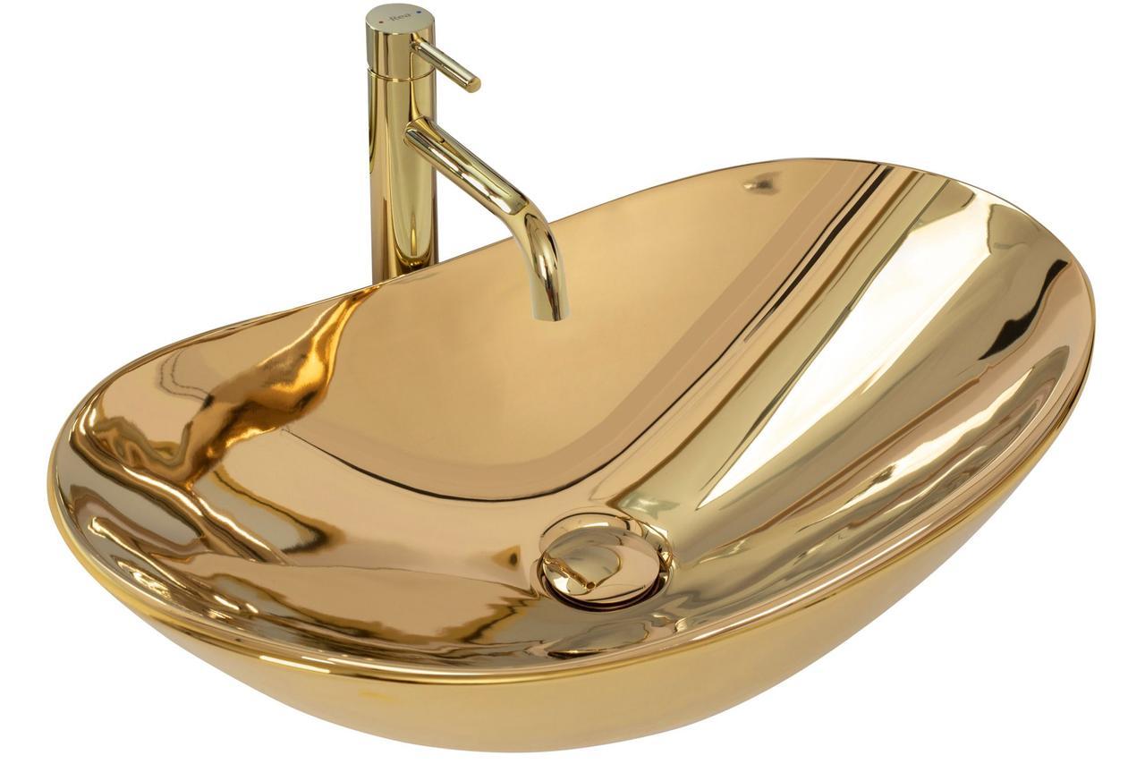 Умывальник (раковина) REA ROYAL GOLD накладной золотой