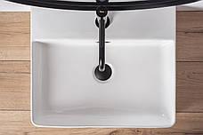 Умивальник (раковина) REA GINA 50 накладної білий, фото 3