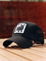 Кепка трекер, спортивная кепка с сеткой, летняя бейсболка Бык
