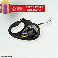 Поводок-рулетка для собак WAUDOG XS (Бэтмен), до 12кг, 3 м