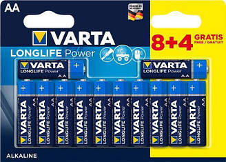 Набір батарейок Varta Longlife AA 12 штук