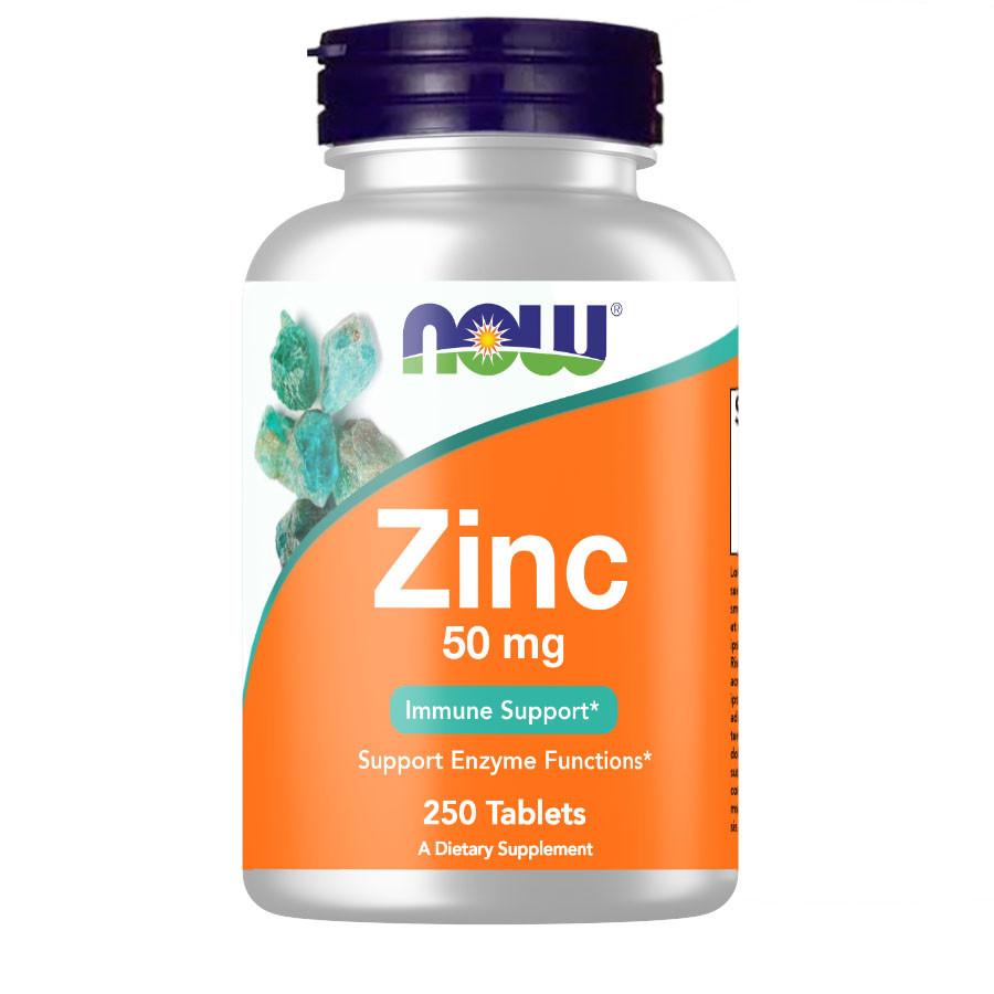 Вітаміни і мінерали NOW Zinc 50 mg, 250 таблеток
