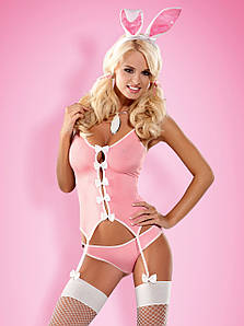Pink Bunny костюм кролика рожевий Obsessive (S/M) #N/A
