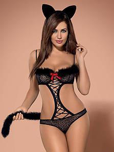 Gepardina костюм чорний Obsessive (S/M) #N/A