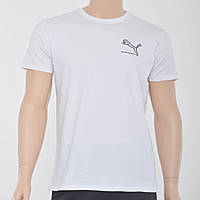 Мужская футболка с накаткой Puma (реплика) белый