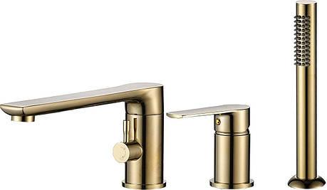 Смеситель для ванны REA DEX L. GOLD трехкомпонентный, фото 2