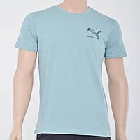 Мужская футболка с накаткой Puma (реплика) аква