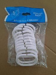 Кільця для шторки у ванну Dogus білі 12 штук (Турція)