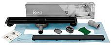 Трап для душа REA NEO PRO BLACK 2в1 черный 60 см, фото 2
