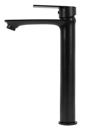 Смеситель для раковины (умывальника) REA MAYSON BLACK черный высокий, фото 2