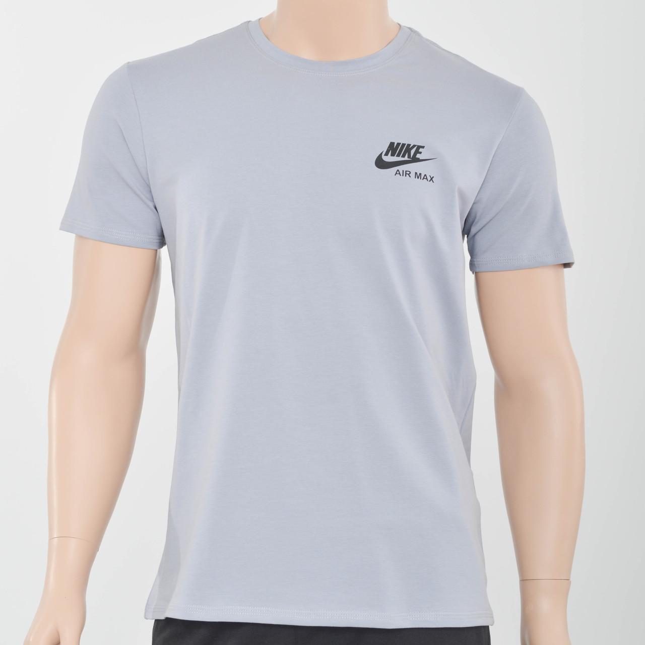 Мужская футболка с накаткой Nike (реплика) светлый серый