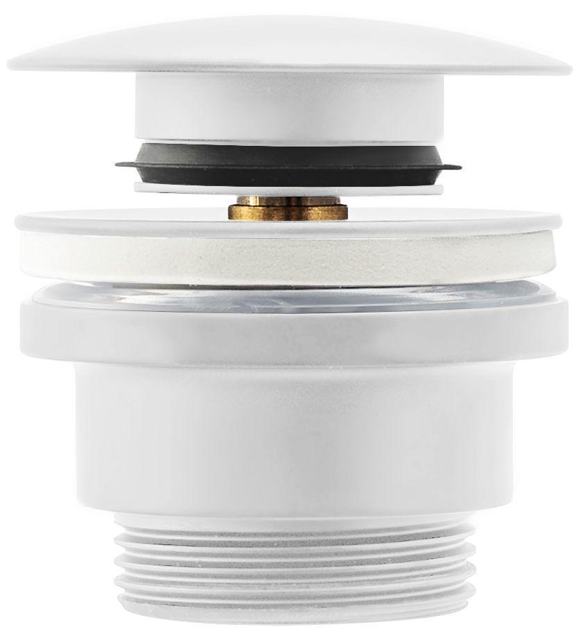 Донний клапан для умивальника REA KLIK-KLAK WHITE білий