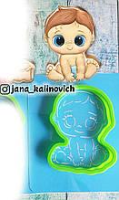 Трафарет + формочка-вырубка для пряников Малыш №5- мальчик