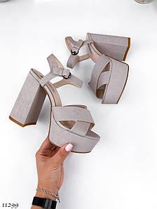 Босоножки на высоком каблуке 11299 (ЯМ)
