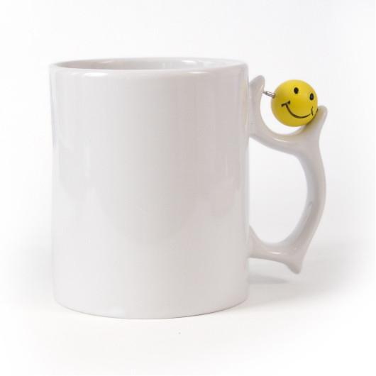 Чашка-антистрес (базовая) для декорации вращающимся элементом (сердечко, футбольный мяч, кофейное зерно,