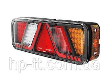 Світлодіодний ліхтар задній універсальний правий Fristom 6 функцій FT-700-066 P LED