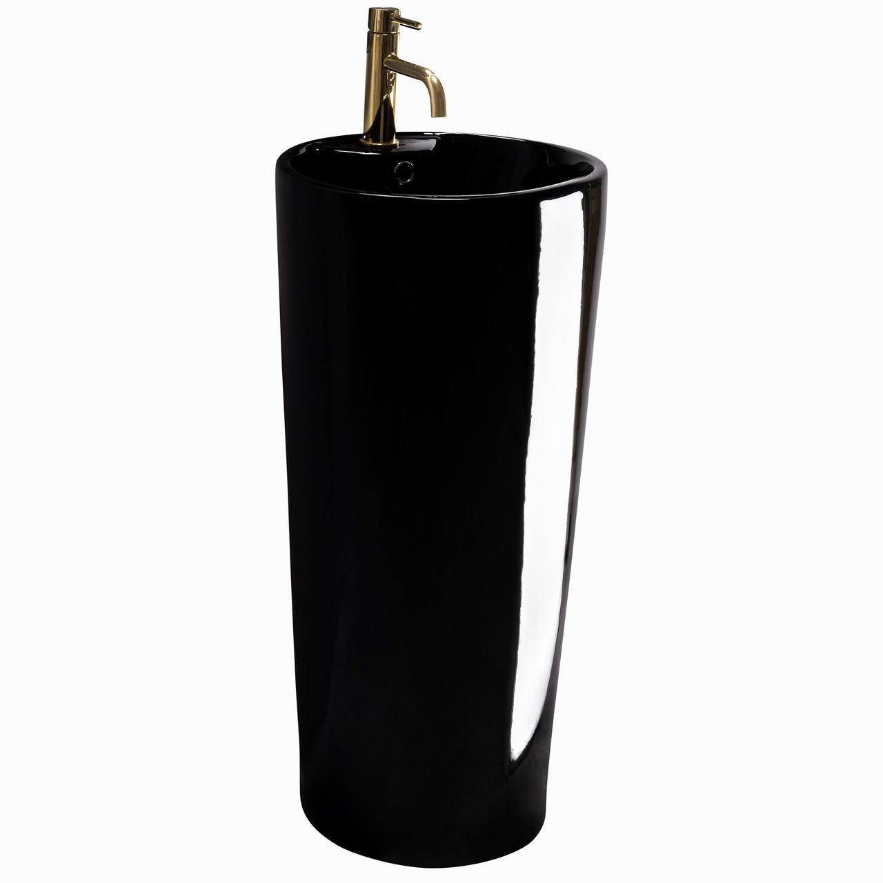 Умивальник (раковина) REA BLANKA BLACK монолітний