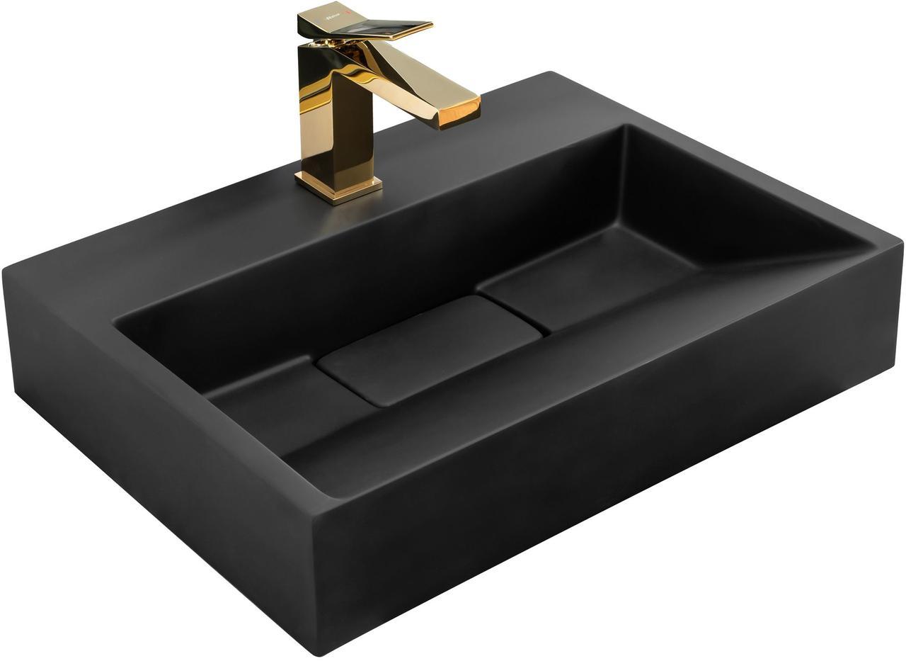 Умивальник (раковина) REA GOYA BLACK MAT 50 накладної чорний матовий
