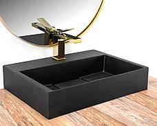 Умивальник (раковина) REA GOYA BLACK MAT 50 накладної чорний матовий, фото 2
