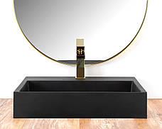 Умивальник (раковина) REA GOYA BLACK MAT 50 накладної чорний матовий, фото 3
