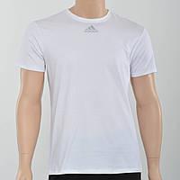 Мужская футболка с светоотражайками на груди и рукаве Adidas (реплика) Белый