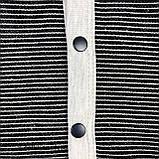 """Тёплый комбинезон """"Полоска"""" с капюшоном чёрный MINIKIN, фото 4"""