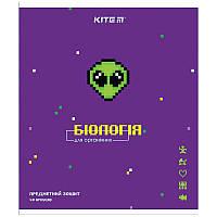 Зошит Kite предметний 48 арк. клітка гібр лак з УФ, Pixel, біологія K21-240-09 (упаковка 8 шт.)