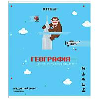 Зошит Kite предметний 48 арк. клітка гібр лак з УФ, Pixel, географ K21-240-13 (упаковка 8 шт.)