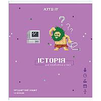 Зошит Kite предметний 48 арк. клітка гібр лак з УФ, Pixel, історія K21-240-12 (упаковка 8 шт.)