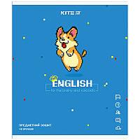 Зошит Kite предметний 48 арк. лінія гібр лак з УФ, Pixel, англ. м. K21-240-10 (упаковка 8 шт.)