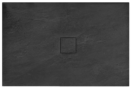Душевой поддон REA BLACK STONE 80X100, фото 2