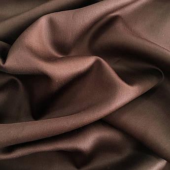 Отрез ткани Сатин коричневый 240 см №11 195х240см