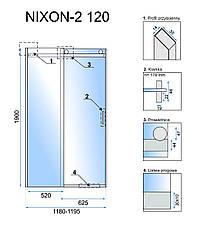 Душевая дверь REA NIXON-2 120 P, фото 3