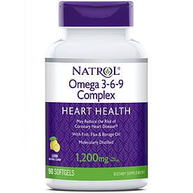 Жирные кислоты Natrol Omega 3-6-9 Complex, 90 капсул