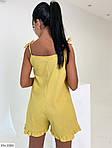 Жіночий комбінезон з шортами льон, фото 3