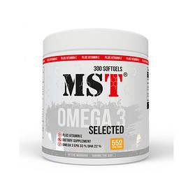 Жирные кислоты MST Omega 3 Selected 55%, 300 капсул