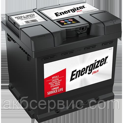 Аккумулятор автомобильный Energizer 6СТ-52 Plus EP52L1