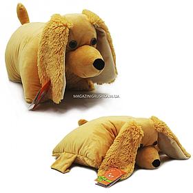 Мягкая игрушка подушка 009 «Спаниель» Копыця, бежевый, складная,45*40*15 см, (00295-88)